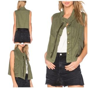 EUC The GREAT The Army Troop Green Vest Jacket